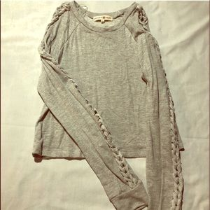NWT Altar'd State Tie Lace Up Sleeves Sweater XS